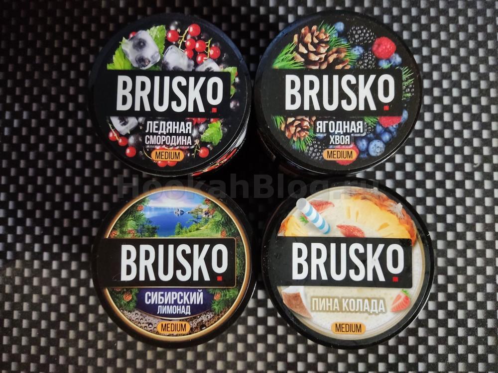 3 дроп вкусов BRUSKO